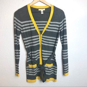 Banana Republic Striped Button Up Cardigan
